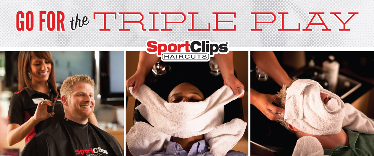 The Sport Clips Haircuts of James River Towne Center Triple Play